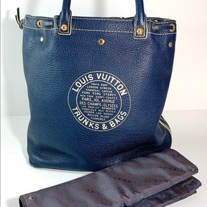 Louis Vuitton Limited Edition Navy Tobago Trunks